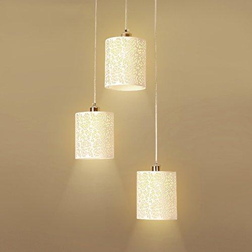 MEGSYL hohle Eisen schmiedeeiserne Kronleuchter, moderne minimalistische 3 Lichter Quelle Kronleuchter, kreative Persönlichkeit postmoderne bar Kronleuchter - Medallion-deckenventilator