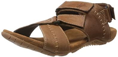 Buckaroo Men's Marshal Tan Leather Sandals and Floaters - 6 UK