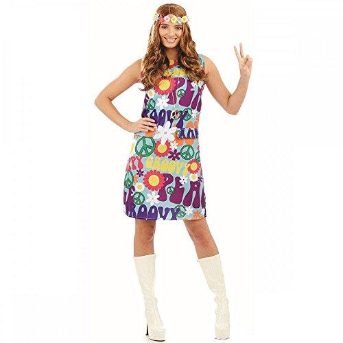 Fun Shack Damen Costume Kostüm, Groovy Hippie Dress, ()