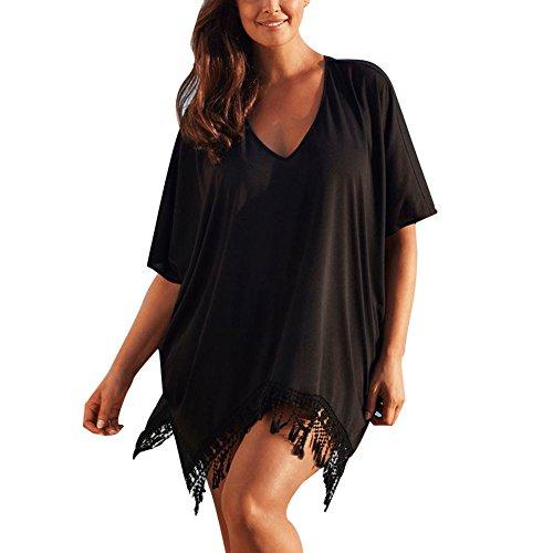 Moresave Bagno delle donne estate vestito con scollo a V di occultamento del bikini Top Dress nappa