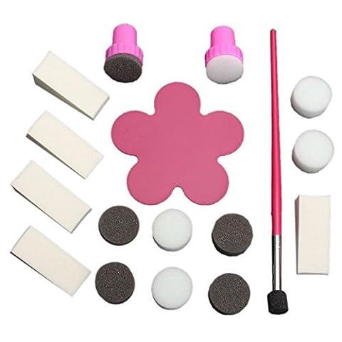 SODIAL(R) 1Set Tampon Stamping Ongle Manucure Eponge Nail Vernis Degrade Sponge Transfer