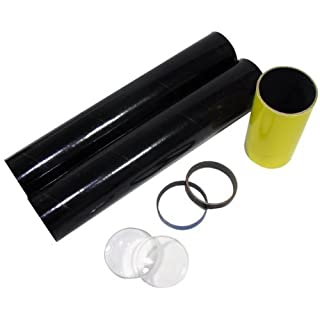 Science Fair Telescope Making Kit. Includes Cardboard Tubes and Lenses. 6x by American Science & Surplus