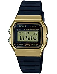 Casio Collection – Unisex-Armbanduhr mit Digital-Display und Resin-Armband – F-91WM-9AEF