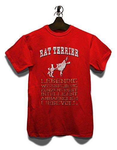 Hund Rat Terrier Herren T-Shirt Rot