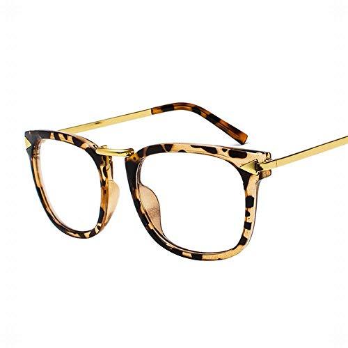 UICICI Der gefälschte große Rahmen der Frauen klare Nicht verschreibungspflichtige Brillen-Art- (Farbe : Gold/floral)