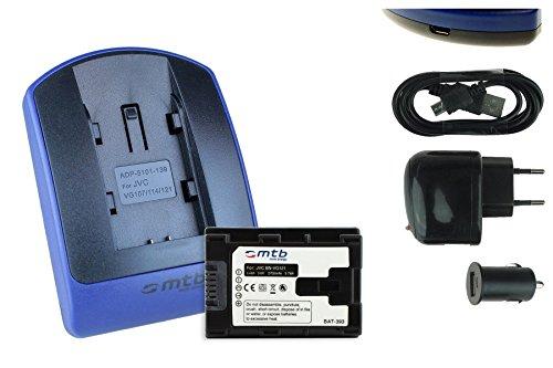 BATERìA + CARGADOR (USB/COCHE/CORRIENTE) BN VG121 PARA JVC GZ GX1 HD500 HD510   / HM30 HM300    / MS    / E   / EX