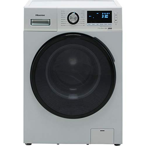 Hisense WFBL7014VS A+++ Rated Freestanding Washing Machine - Silver Best Price and Cheapest