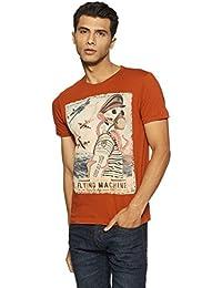 Flying Machine Men's Printed Regular Fit T-Shirt