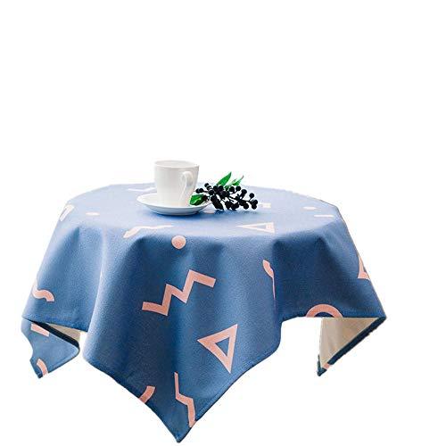 ChuangYing Geometrische Muster Tabelle Tuch Handbemalt Pastorale Stoff Kleine Tafelrunde quadratisches Tuch -