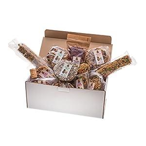 SURPRISE BOX XXL - Set von 15 beliebtesten Snacks und Leckereien für alle Nager und Kaninchen. Mehr als 2000 Gr hochwertiger Ernährung.