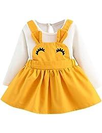 Elecenty Gonne bambine e ragazze Abiti per abiti da imbracatura Principessa  dell orecchio del coniglio Curvy del ciglio della neonata… 08c6e09b873