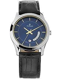 Titan Gents Karishma Analog Blue Dial Men's Watch-1823SL01