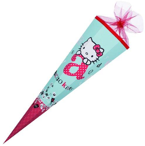 Nestler 6855250 - Schultüte Hello Kitty ABC, 85 cm, 6-eckig, Tüllverschluss