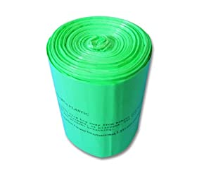 S.A.C TD9024-24 Sanitary Napkin Receptacle Liner, Degradable Plastic, 5 gal Capacity, Green (Pack of 24)