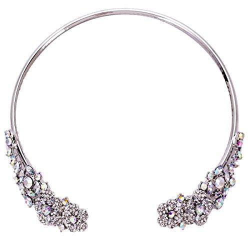 Femmes Alliage Collier Rétro Réglable Diamant Chaîne De La Clavicule silver