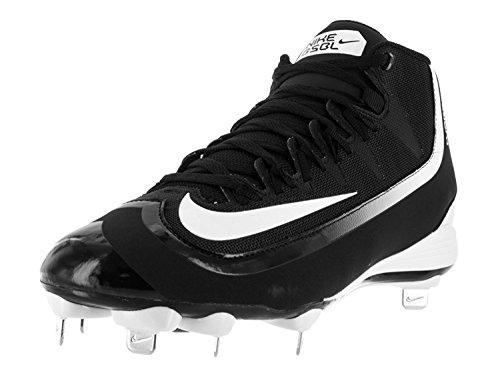 Nike Men's Huarache 2KFilth Pro Mid Black/White Baseball Cleat 11 Men US (Nike-softball-schuhe)