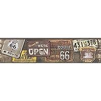 A.S. Création cenefa autoadhesivo Stick Ups 2 marrón colorido 5,00 m x 0,13 m 312011