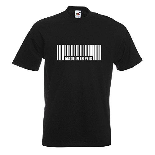 KIWISTAR - Made in Leipzig T-Shirt in 15 verschiedenen Farben - Herren Funshirt bedruckt Design Sprüche Spruch Motive Oberteil Baumwolle Print Größe S M L XL XXL Schwarz