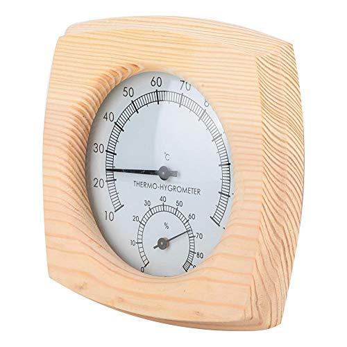 Termómetro e Higrómetro, Termómetro de Sauna Higrómetro Medidor de Temperatura de Humedad, Material...