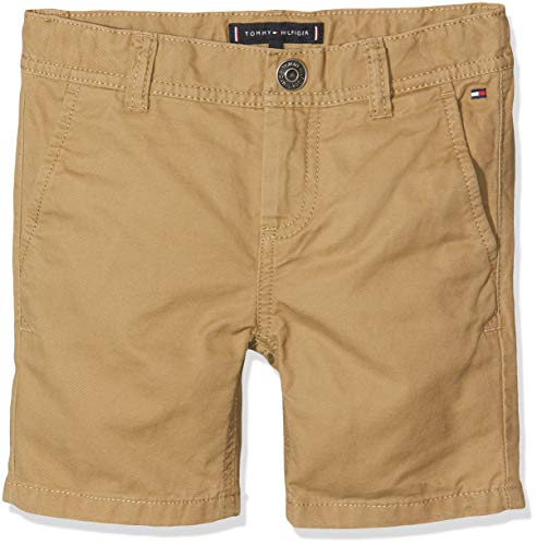 Tommy Hilfiger Baby-Jungen Essential Twill New Chino Shorts, Braun (Tiger's Eye 265), (Herstellergröße: 92) -