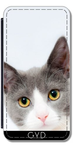 Leder Flip Case Tasche Hülle für Apple iPhone 6/6S - Pretty Kitty Tier Katze Haustier by Grab My Art Lederoptik
