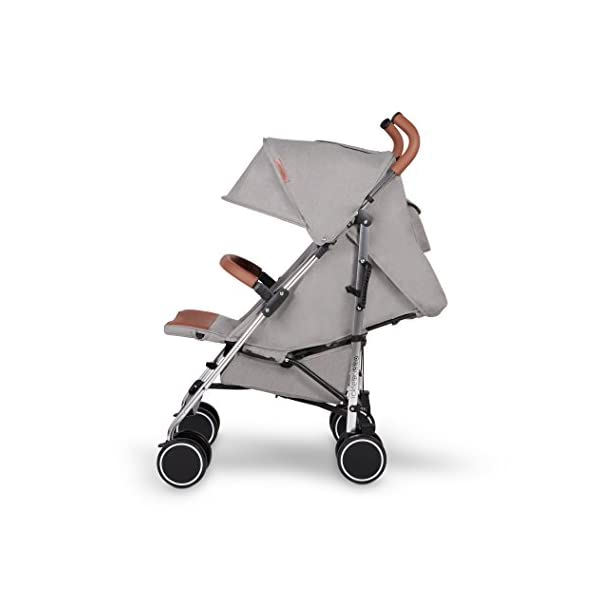 Ickle Bubba Baby Discovery Stroller| Lightweight Stroller Pushchair | Compact Fold Technology for Easy Transport and Storage | UPF 50+ Extendable Hood | Grey/Silver Ickle Bubba ONE-HANDED 3 POSITION SEAT RECLINE: Baby stroller suitable from 6 months to 22kg. 4 years old; features rain cover UPF 50+ RATED ADJUSTABLE HOOD: Includes a peekaboo window to keep an eye on the little one; extendable hood-UPF rated-to protect against the sun's harmful rays and inclement weather LIGHTWEIGHT DESIGN WITH COMPACT FOLD TECHNOLOGY: Easy to transport, aluminum frame is lightweight and portable-weighs only 7kg; folds compact for storage in small places; carry strap and leather shoulder pad included 5