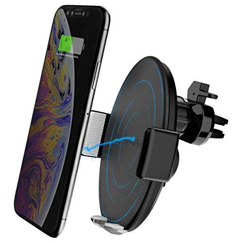 NANAMI Qi Kfz Handy Halterung Ladegerät,Selbstklemmend Wireless Charger Induktions Ladegerät für iPhone XS Max XS XR X 8 8 Plus, Induktive Ladestation Auto Lüftung Halter für Samsung Galaxy S10 S9 S8