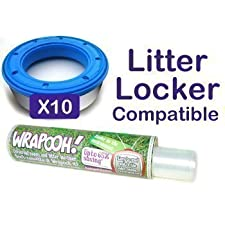 Wrapooh Nachfüllfolie für Baby-Nachttopf, kompatibel mit Litter Locker, gleichwertig mit 10 Litter Locker Kassetten, für Einzelheiten bitte Beschreibung lesen