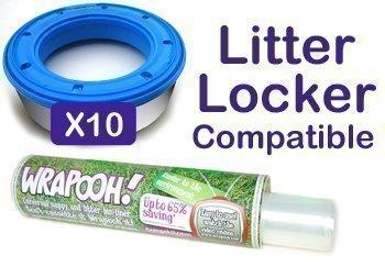 Preisvergleich Produktbild Wrapooh Nachfüllfolie für Baby-Nachttopf, kompatibel mit Litter Locker, gleichwertig mit 10 Litter Locker Kassetten, für Einzelheiten bitte Beschreibung lesen