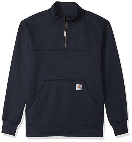 Carhartt Men's Rain Defender Paxton Heavyweight Quarter-Zip Sweatshirt, Navy, X-Large (Carhartt Heavyweight Sweatshirt)