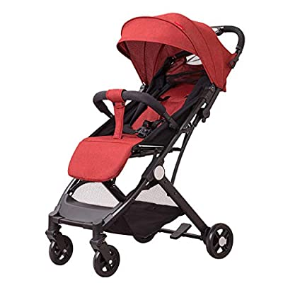 Lightweight Portable Folding Pushchair, Adjustable High View Pram Travel System Carriage Infant Stroller for 0-3 Years Old Boys & Girls