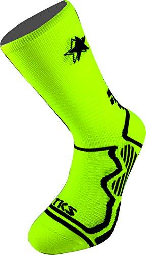 tks-vacceo-calze-a-compressione-graduata-fluor-giallo-nero-running-hi-bike-hi-trail-run-xl46-48