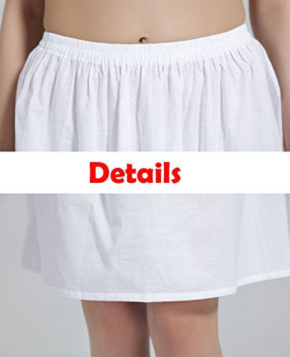 Damen Unterrock 100% BAUMWOLLE Frauen Unterkleid Underskirt In 10 Längen von BEAUTELICATE Schwarz