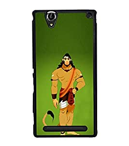 Fiobs Designer Back Case Cover for Sony Xperia T2 Ultra :: Sony Xperia T2 Ultra Dual SIM D5322 :: Sony Xperia T2 Ultra XM50h (God Bhagvan Temple Dress Sports Typography Spritual)