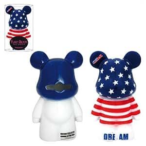 Tirelire Funky Bear Drapeau USA - 6,5x6x11,4cm