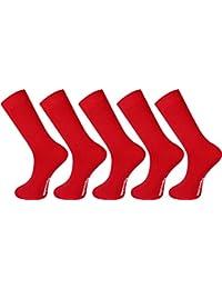 Mysocks® Hommes et femmes 5 paires Couleur unie chaussettes coton peigné