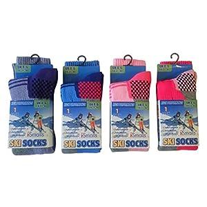 i-Smalls Kinder Thermo hohe Leistung extra gepolsterte Skisocken 4er Pack