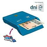 Woxter Lector DNI Electrónico Combo Azul - Lector de DNI Electrónico, DNI 3.0, Tarjetas SD, MMC,...