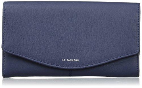 Le Tanneur - Valentine anti RFID TTZ3601 - Portefeuille - Femme - Bleu (Marine) - 2x10x19 cm (W x H x L)