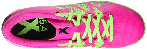 adidas X 15.4 In, Chaussures de Football Compétition Homme Rose (Shock Pink/Solar Green/Core Black)