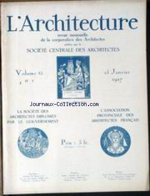 ARCHITECTURE (L') [No 1] du 15/01/19...