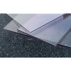 Plaque Polycarbonate UV différentes Tailles, épaisseurs, transparente (2-20 mm) PC incolore large sélection alt-intech® (800 x 500 mm, 3 mm )
