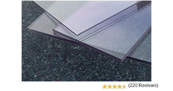 500 x 500 mm, 3 mm PC incolore large s/élection alt-intech/® Plaque Polycarbonate UV diff/érentes Tailles /épaisseurs 2-20 mm transparente