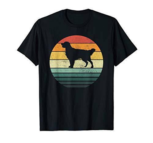 Golden Retriever dog breed Sunset Retro Vintage Dog mom dad T-Shirt -