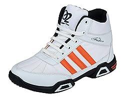 Hillsvog Mens White Synthetic Cricket Shoes - 7 UK