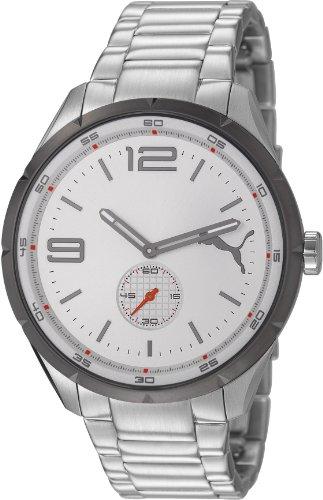 Puma - PU103111001 - Speed - Montre Homme - Quartz Analogique - Cadran Gris - Bracelet Acier Argent