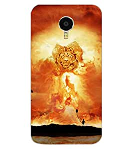 ColourCraft Lion Look Design Back Case Cover for MEIZU BLUE CHARM NOTE 3