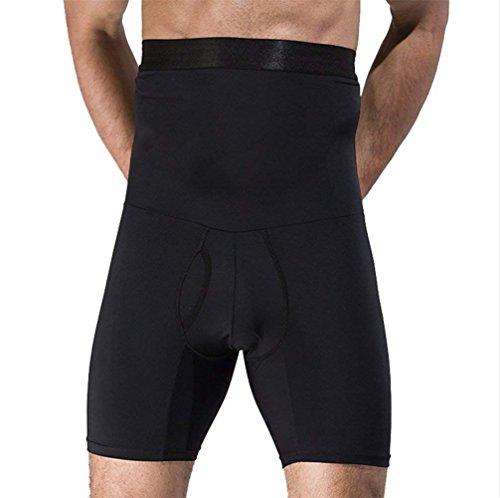 Yefar Body Shaper Abnehmen Shapewear für Männer Bauchkontrolle Boxer Kurze Hose Pushup Unterwäsche,Black,XXL