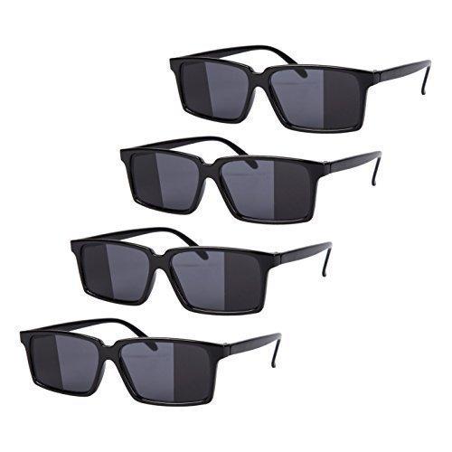 4 x Schwarz Spiegel Rückansicht Spy Brille