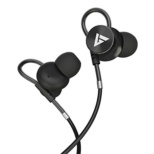Boult Audio BassBuds Loop in-Ear Wired Earphones with Mic and Deep Bass, HD Sound Mobile Headset with Noise Cancellation and Customizable Ear Loop (Black) 1